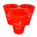 3-pack of reusable Plastic red Keg