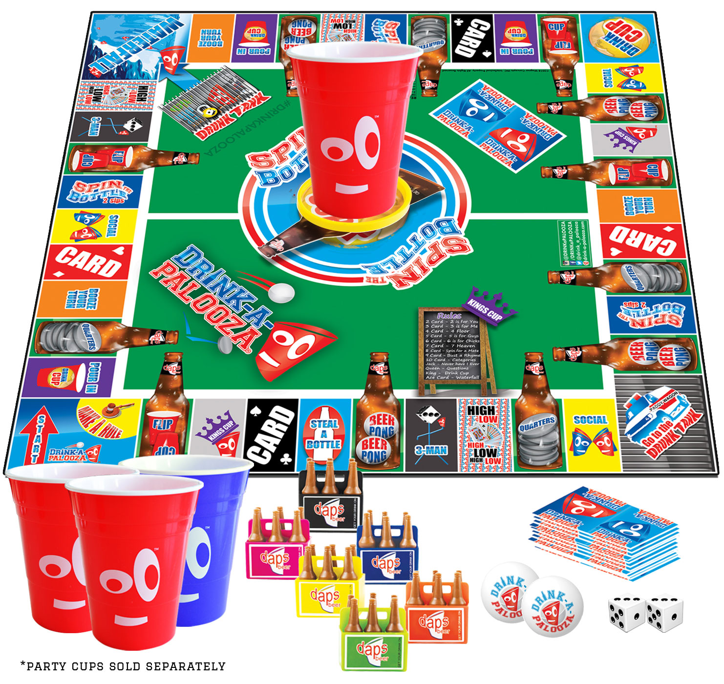 drink a palooza party game drink a palooza ultimate party board game